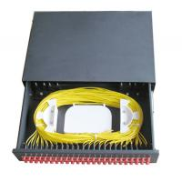 Best 48 ports Slidable type Rack Mounted terminal box ODF black cold rolling steel sheet with FC/UPC adapter wholesale