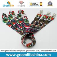 Quality Promotional Custom Polyester Neck Lanyards Fashionable Full Heat Transfer Printing for sale