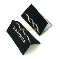 Quality Centrefold Woven Clothing Labels Low Minimum With Logo For Damask Textile Products for sale