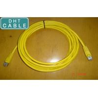 Quality SSTP Twisted Pair Outdoor CAT6 Ethernet Cable Yellow Color RJ45 Over Mold Connection for sale