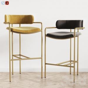 Quality Lenox Velvet Counter Modern Bar Chairs West Elm Fashionable Design for sale