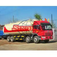 Quality FAW 8x4 Dry Powder Bulk Cement Truck Low-Roof / High-Roof Cabin Type for sale