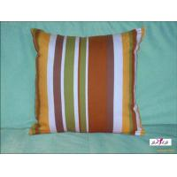 China Small Brown Stripe Plain Custom Decorative Pillows for Bed on sale