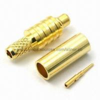 Quality MMCX Straight Plug RF Coaxial Connector for RG-174U/316U Cable, 50 Ohms for sale