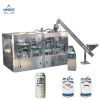 Quality 12 Filling Heads Beer Filling Machine With Aluminum Cans 100 - 320mm Bottle Height for sale