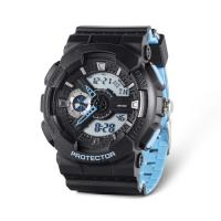 China LCD Digital Watch with Stainless Steel Caseback, 5ATM Water Resistant Quartz Chronograph Watch,Digital Sport Watches on sale