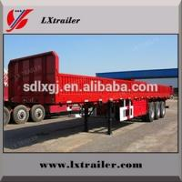 Best 3 axles cargo semi trailer\ Drop side wall semi trailer with twist locks wholesale