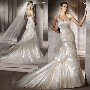 China Exquisite Halter Neckline Mermaid Bridal Dress (111152) on sale