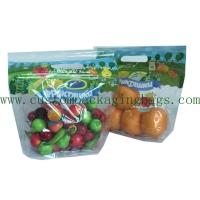 Quality Customized Printed Fruit Packaging Bags 0.03-0.06mm Thickness For Grape / Cherry for sale