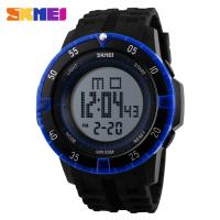 China Digital Mens Sport Watch 5 ATM Waterproof With Durable PU Plastic Japanese Battery on sale