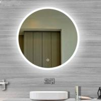 Buy cheap Usa Touch Sensor Switch Wall Makeup Mirror With Led Lights For Villa , Circular from wholesalers