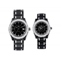 China ODM Lovers Style Black Ceramic Analog Wrist Watch, Water Resistant Gift Watches on sale