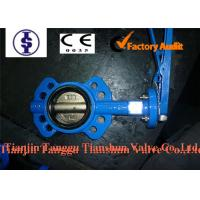 Quality Automated Cast Iron Industrial Butterfly Valve Wafer Type With Carbon Steel Disc for sale