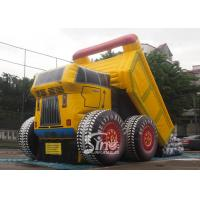 China New construction site giant dump car inflatable slide with EN14960 certification on sale