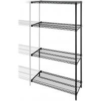 Quality Adjustable Chrome  Industrial Wire Shelving With 4 Shelves Garage NSF Approval for sale