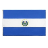 Quality El Salvador 100D Polyester North Custom Country Flag 90g 3x5ft for sale