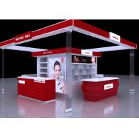 Buy cheap Shopping Mall Cosmetic Display Stand , Red Color Retail Cosmetic Display Cases from wholesalers