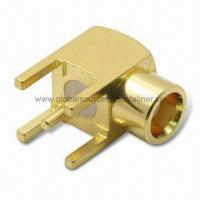Quality MMCX R/A Plug RF Coaxial Connector for PCB Mount, 50 ohms for sale