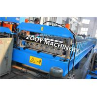 Quality Automatic Decoiler Floor Deck Cold Roll Forming Equipment With PLC Control, Chains Transmission for sale