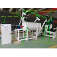 Quality Grain Crushing Poultry 1t/H Feed Pellet Production Line for sale