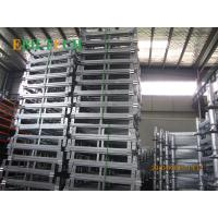 Quality Foldable Stackable Steel Pallets , 4 Way Entry  Warehouse Stacking Equipment for sale