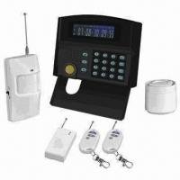 Quality Intelligent GSM Alarm System with LCD screen Color LCD Screen/24 Wireless Zones/Maximum 2 Wired Zone for sale