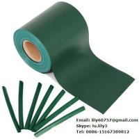 Quality green 450g pvc strip screen fence coated tarpaulin material for sale
