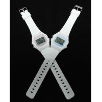 Quality White Lady LCD Digit Sport Watch Battery Powered Casio Style for sale