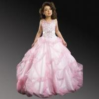 China Sweetheart Neckline Beaded Organza Flower Girl Dress on sale