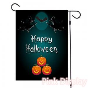 Quality Pink Display Silkscreen Decorative Halloween Flags for sale