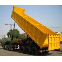 Quality 2016 new hydraulic type dump tipper tri-axles 40m3 cargo semi trailer in Africa at low price for sale