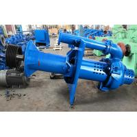 Quality Open Pit Vertical Submersible Slurry Pump High Chrome A49 Blue Color RAL5015 for sale