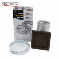 Quality Kitchen Air Vent Kit 4 Inch Brown Vent Hood Aluminum Flexible Air Duct Set for sale