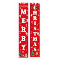 Quality Merry Christmas 12.2x70.87'' Decorative Garden Flags for sale