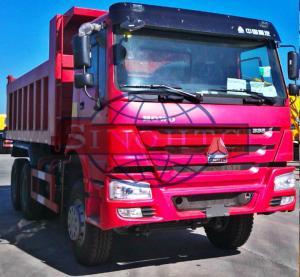 Quality HOWO Utility Dump Truck 10 Wheels 6x4 Driving Type Square Shape / U Shape Body for sale