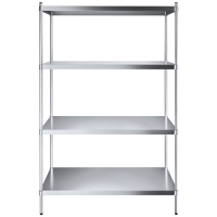 Quality 14'' Post Height 4 Tier Storage Unit , 445LBS Household Wire Shelving for sale