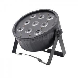 Quality Plastic Flat Slim LED Parcan 9pcs RGBW 4in1 LED Par Wash Lights 25/45 Degree Lense Angle for sale