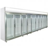 China Glass Door Compact Refrigerator 0 - 10 Degree Dynamic Cooling For Shop on sale