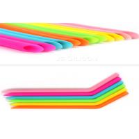 Buy Foldable Smoothie Food Grade Silicone Straws Bubble Tea Bpa Free SGS Approval at wholesale prices