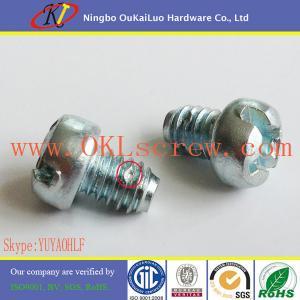 Quality Fillister Head Zinc Plated Screws for EMT Box Connectors for sale