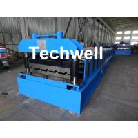 Quality Roof Wall Panel Cold Roll Forming Machine / Roof Wall Cladding Roll Forming Machine With PLC Control System for sale