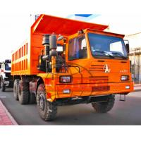 Quality Three Axle Heavy Duty Dump Truck For Mining 420hp Power Half Cabin for sale