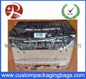 Quality Protable Slider Grape Bag Fruit Packing Bag With Hanger Hole for sale