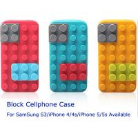 Quality Dual Function Brick Building iPhone 5 / 5s Silicone Cell Phone Cases , Phone Stand Block Cellphone Case for sale