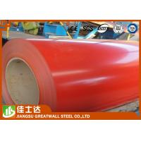 Quality Red Cold / Hot Rolled GI Steel Coil , PPGI Steel Sheet Roll Roofing Materials for sale