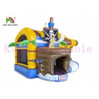 China Custom 0.55mm PVC Pirate Inflatable Jumping Castle OEM Color For Adults And Kids on sale