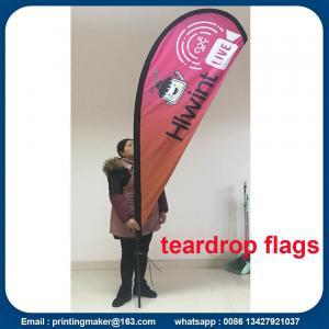 Quality Custom Teardrop Flag Banner Printing for sale