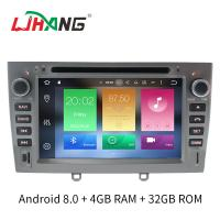 Quality Support Digital TV Double Din Peugeot DVD Player Manual Air Condition for sale