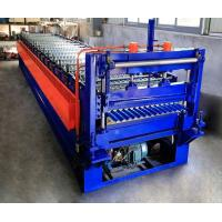 Quality 0.25-0.6mm Corrugated Roof Making Machine / Corrugated Sheet Roll Forming Machine for sale