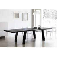 Quality Solid Wooden Minimo Modern Dining Room Tables Rectangle Black Colors for sale